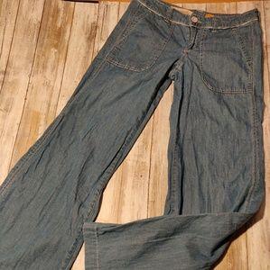 Pilcro and Letterpress flare leg jeans